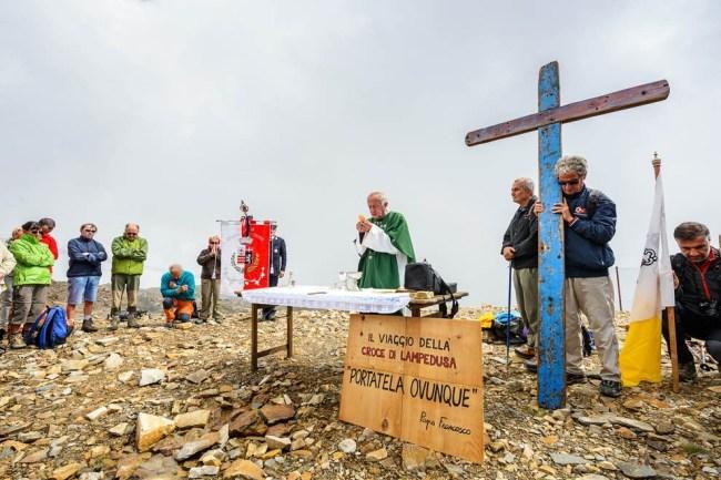 La cerimonia sul Monte Rosa. Ph. P. Brignone