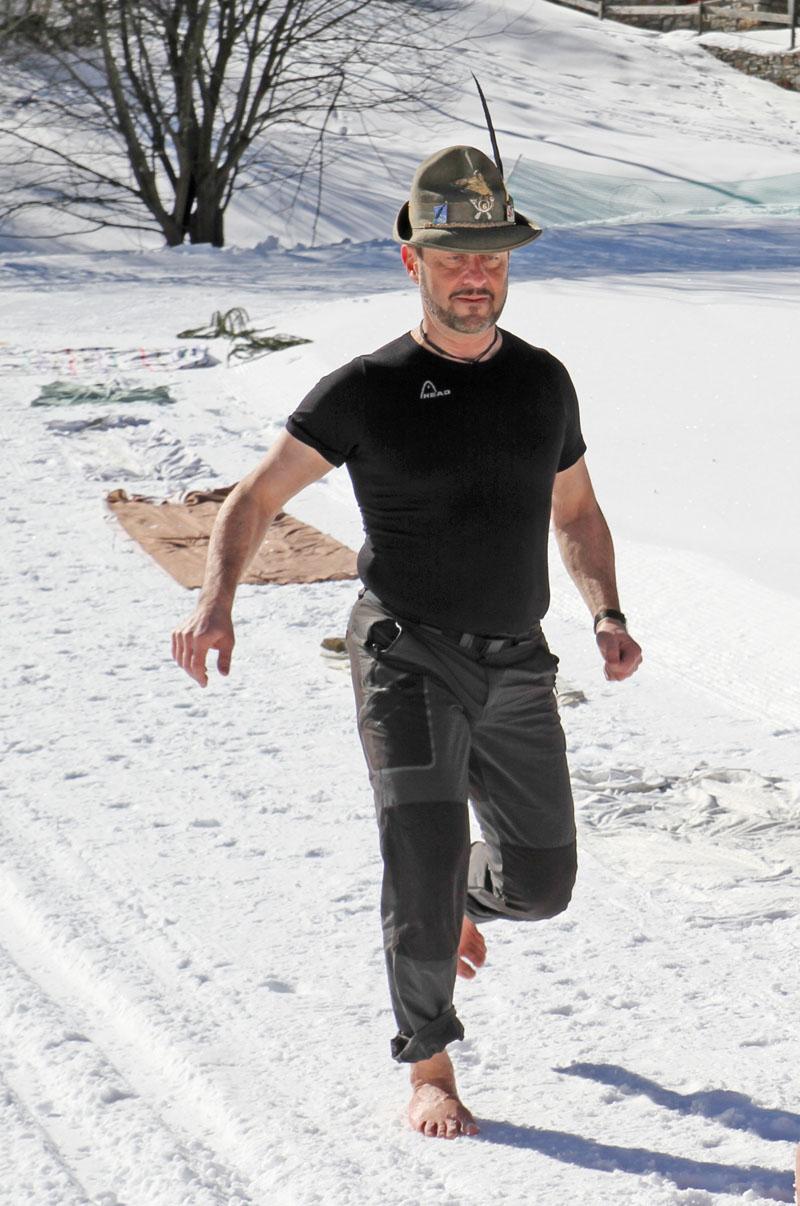 Alpino a piedi nudi