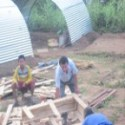 Rajendra-Nhisutu-and-HIMET-volunteer-are-making-zinc-slate-tents (1)