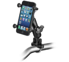 The RAM-B-149Z-UN7U X-Grip handlebar mount with an Apple iPhone 5s