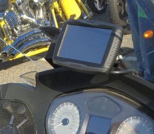 Garmin Zumo 590LM on BMW Motorcycle for twitter