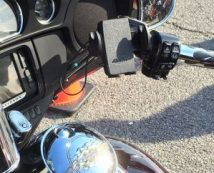 Arkon Mega Grip Mount on a Harley