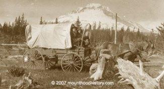 Wagon at Government Camp
