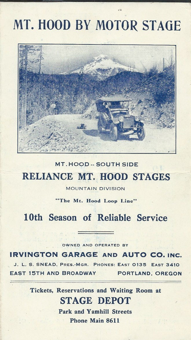 Reliance Mt Hood Stages Advert