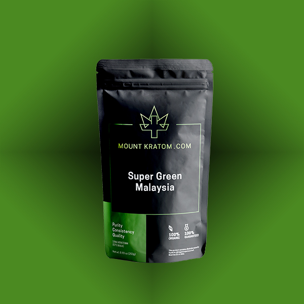 Super Green Malaysia Pouch on Green Background
