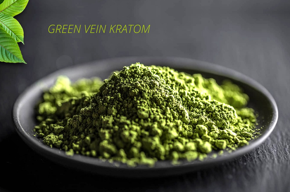 photo of green kratom powder after it was processed into a powder.