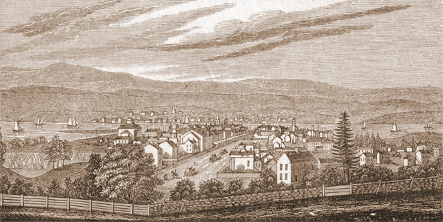 The history of Hudson, NY. View from Academy Hill