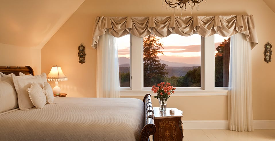 A guest room at the luxury bed and breakfast in Hudson, NY - Mount Merino Manor
