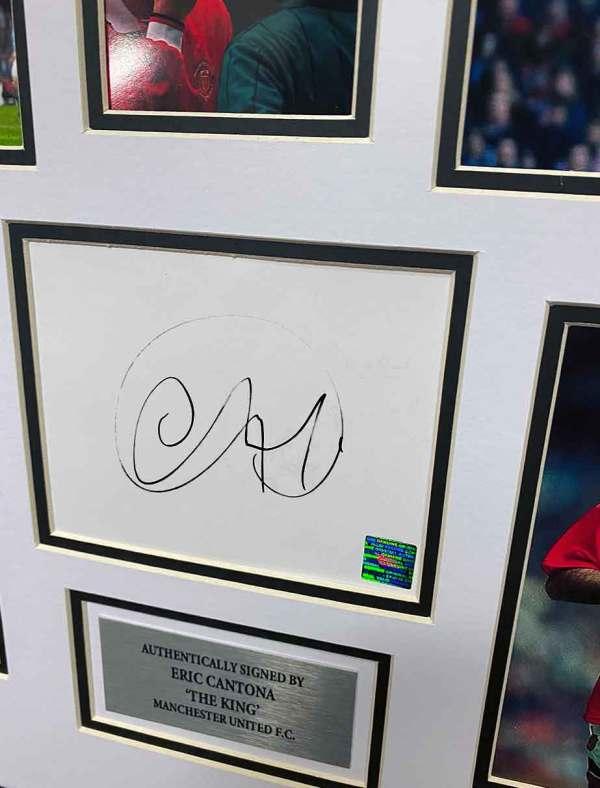 authentically signed eric cantona autograph up close