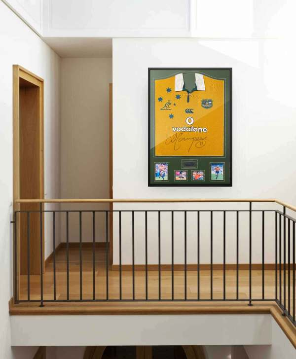authentically signed campese-australia rugby background