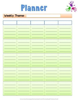 The Complete Homeschool Planner Weekly Lesson Planner Page 2