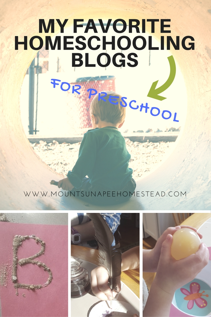 Favorite Homeschool Blogs for Preschool