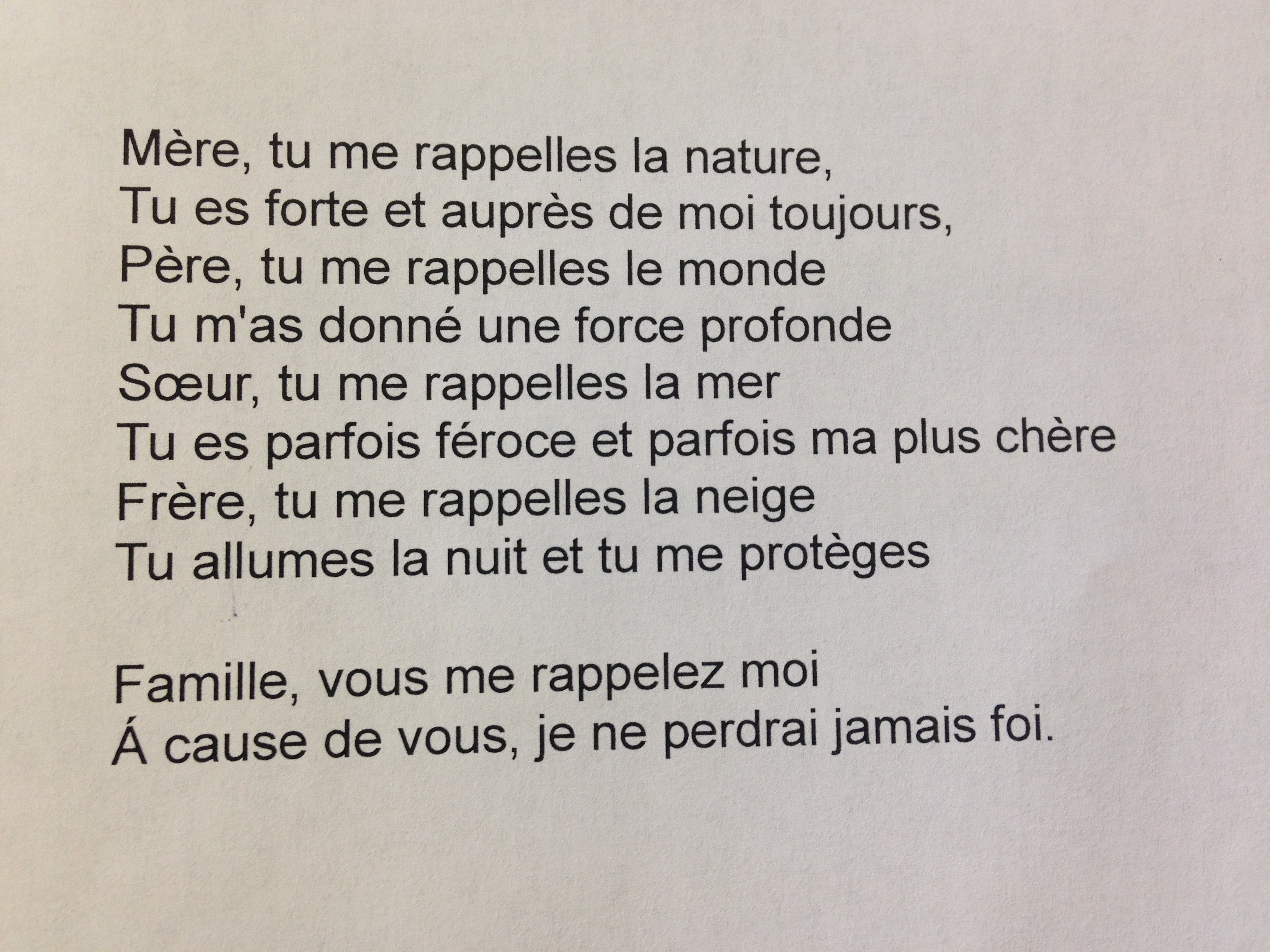 French Poetry Competition Read The Winning Entries Here