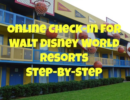Online Check-in at Walt Disney World resorts
