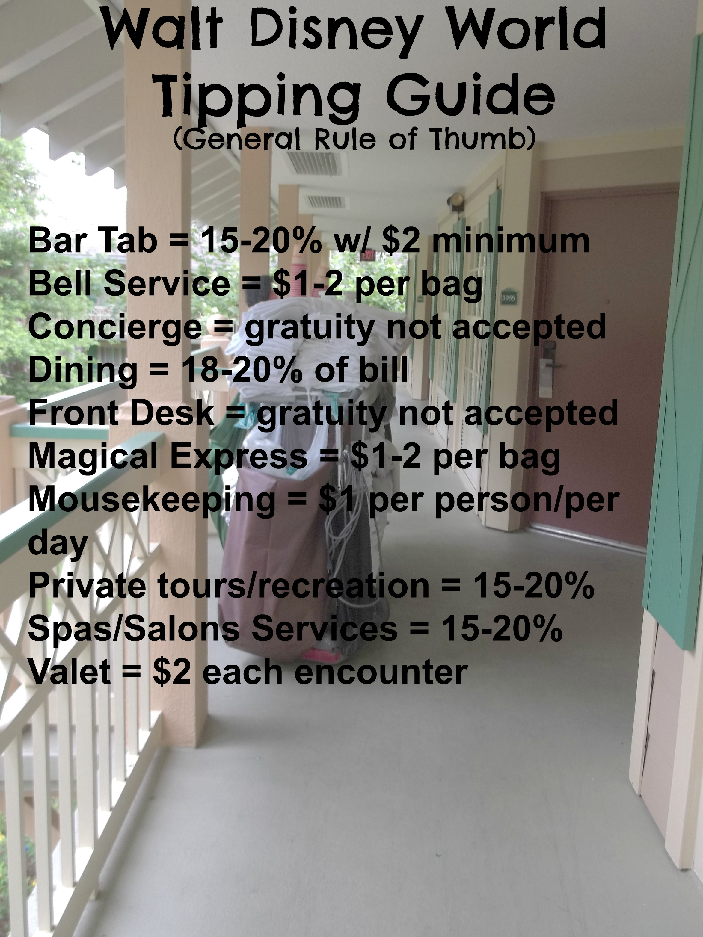 Your Very Own Walt Disney World Tipping Guide ~ Mouseter Planner