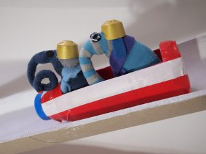 Ernest and Arnold are in the bobsleigh