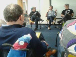 Ratvaark watches a Q and A session