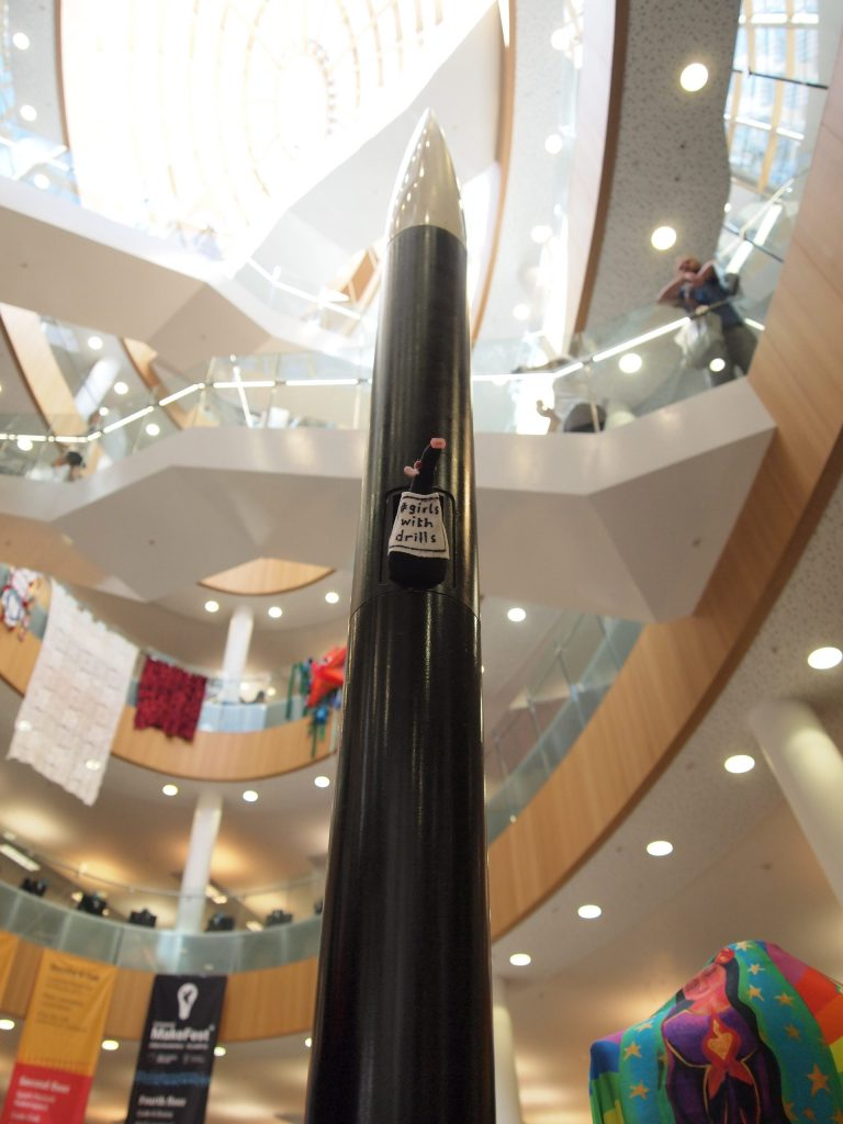 Fury and the rocket seen from below