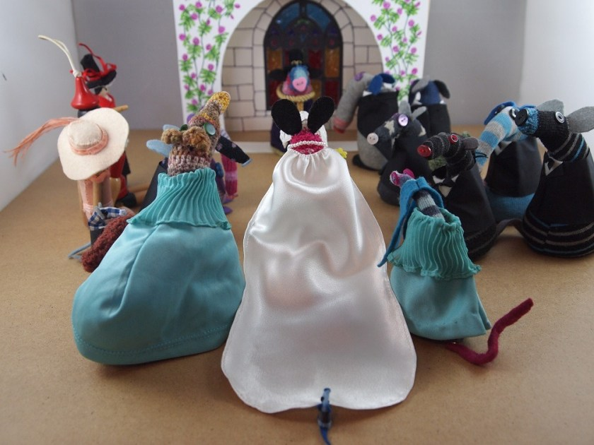 Matilda walks down the aisle with Esther and Ofelia