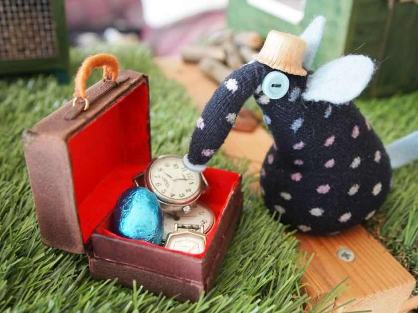 Winston finds an egg in his suitcase of dodgy watches