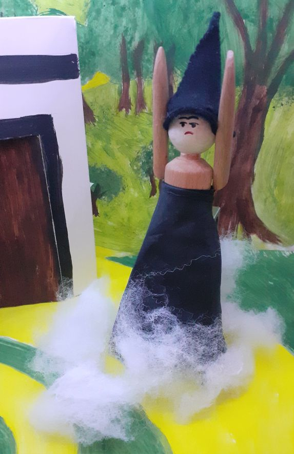 the witch disappears