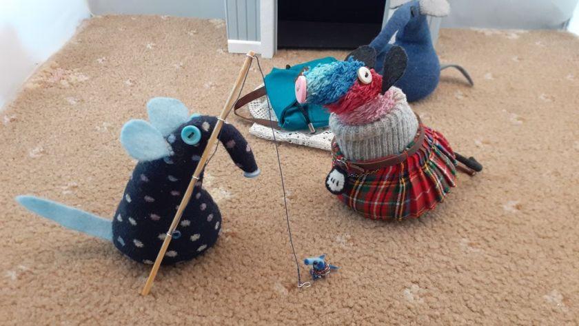 Winston brings a fishing rod