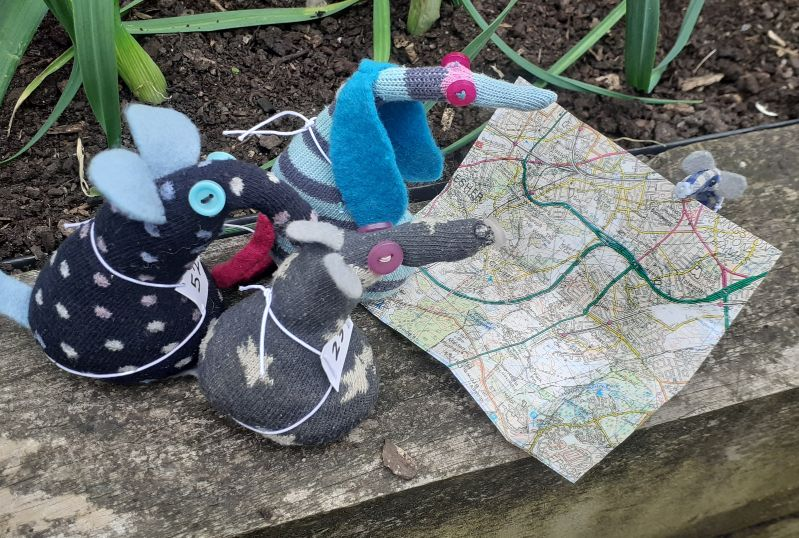 they stop to look at a map held by microvaark