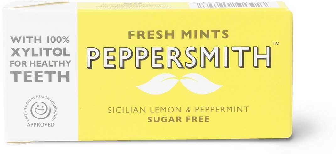 lemon and peppermint xylitol mints