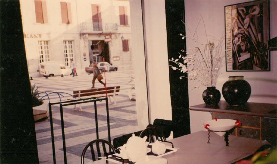 Le showroom dans les années 80