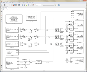 Sketching microcontroller algorithms in Simulink makes it easy for beginners to design control systems. The UART blocks enable communication to a PC running another Simulink diagram which commands the desired coil current in real-time.