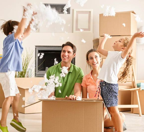 family having a stress-free residential move
