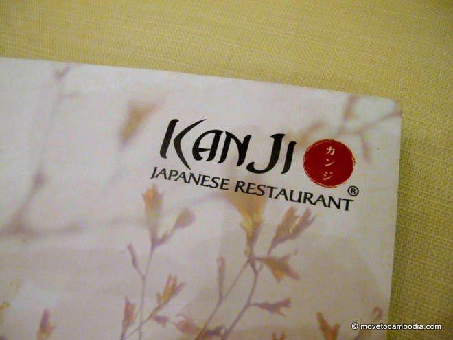 Kanji Phnom Penh menu