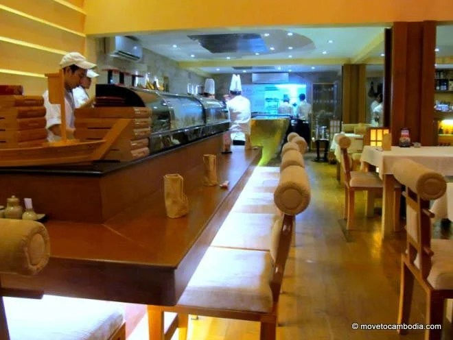 The sushi bar in Kanji Japanese Restaurant, Phnom Penh