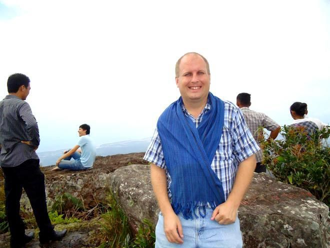 Bruce on top of Bokor Mountain