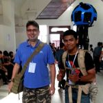 Paul Harper Cambodia with Google Street View mapper