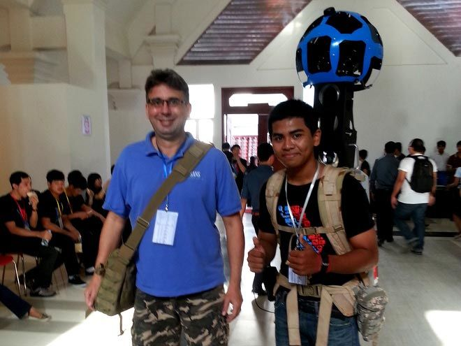 Paul Harper Cambodia with Google Street View mapper