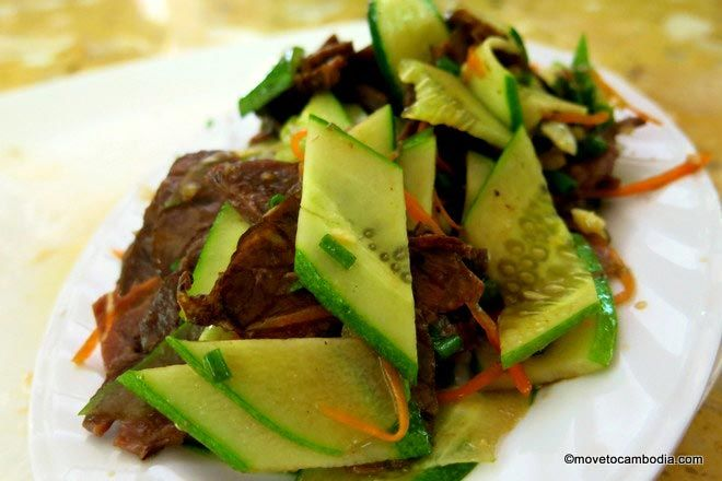 Beef and cucumber stir-fry. Try it.