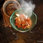 steaming Kep crabs