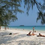 lazing on the beach at Koh Rong
