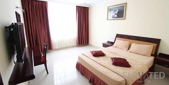 Western-style apartment Phnom Penh bedroom