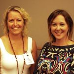 Sue meets Shannon Harvey at Yoga Australia Conference