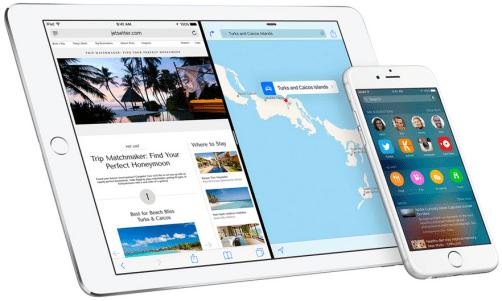 iOS 9 Pantalla dividida