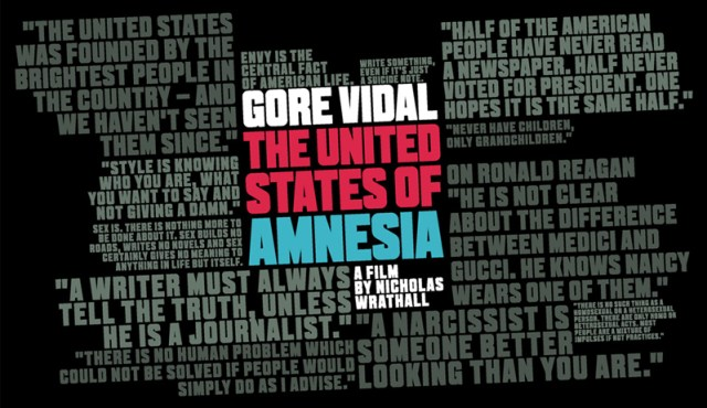 Gore Vidal: The United States of Amnesia movie review