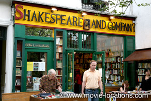 Midnight In Paris location: Shakespeare and Company, rue de la Bucherie, Paris