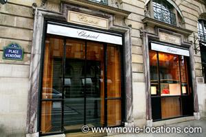 Midnight In Paris location: Chophard, Place Vendome, Paris
