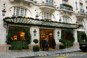 Midnight In Paris location: Hotel Le Bristol, rue du Faubourg St Honore, Paris