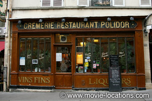 Midnight In Paris location: Restaurant Polidor, rue Monsieur le Prince, Paris