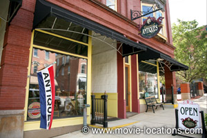 The Shawshank Redemption filming location: Carrousel Antiques, West Main Street, Mansfield, Ohio