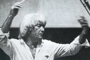 Jerry Goldsmith conducting