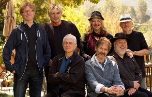James Horner and his music team, including Rhodes, Franglen, Henrikson and Rand, in 2012